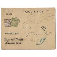 Enveloppe 1920, Faculté de Droit, Université de Paris, (Ref L17)