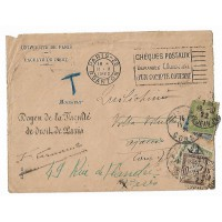 Enveloppe 1922, Faculté de Droit, Université de Paris, (Ref L20)