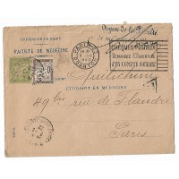 Enveloppe 1922, Faculté de Medecine, Université de Paris, (Ref L21)