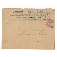 Enveloppe 1903, L'Union Fraternelle 183 rue St Denis Paris, (Ref L24)