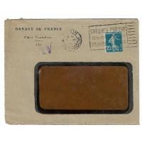 Enveloppe 1921, Banque de France Place Ventadour, (Ref L30)
