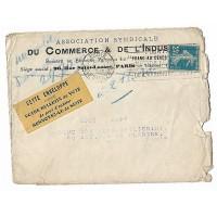"""Enveloppe 1919, Société de Secours Mutuels du """"Franc au décés"""" (Ref L31)"""