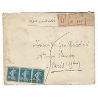 Enveloppe Lettre Recommandée 1922, (Ref L33)