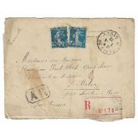Enveloppe Lettre Recommandée 1922, (Ref L34)
