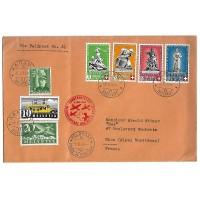 Enveloppe Ancienne - Suisse 1940 - Numéro 344-349-351-353-353- PA 4 - Oblitéré