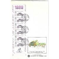 Enveloppe grand format Premier Jour 1989 - Carnet - Oblitéré