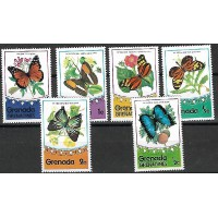 Lot de Timbres Thématique -Papillons - Grenade - (T006)