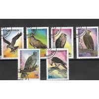 Timbre Thématique du Monde - Oiseaux - Kirghizistan - (T033)