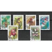 Timbre Thématique du Monde - Fleur - Republic Madagascar - (T047)