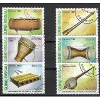 Lot de Timbres Thématique - Instruments de Musique - Guiné Bissau - (T126)
