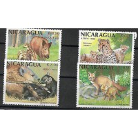 Timbre Thématique du Monde - Animaux - Nicaragua - (T191)