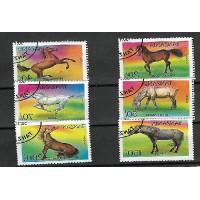 Timbre Thématique du Monde - Chevaux - Tanzanie - (T303)