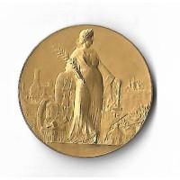 Médaille en Bronze Doré - 16eme Exposition du Travail - 1907