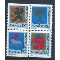 Suède - Numéro 1260 à 1263 - Neuf avec Charnières