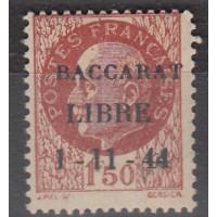 France Libération Baccarat - Numéro 6 - Neuf avec Charnières