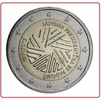 2 €uros Lettonie 2015 (UNC Sortie de Rouleau)  Qualité : Neuve sortie de Rouleau