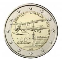 """2 €uros Malte 2015 """"Aviation 100th anniversaire"""" (UNC Sortie de Rouleau)"""
