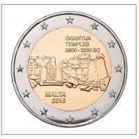 """2 €uros Malte 2016 """"Temples"""" (UNC sortie de Rouleau)"""