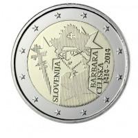 2 €uros Slovenie 2014 (UNC sortie de Rouleau)