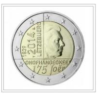 "2 €uros Luxembourg 2014 ""175 Joër Onofhängegkeet"" (UNC sortie de Rouleau)"