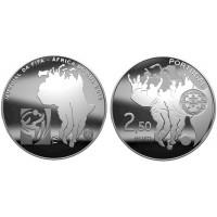 2.50 Euros Portugal FIFA 2010 - UNC sortie de Rouleau
