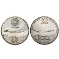 2.50 Euros Portugal 100 Ans Aviation 1914 - 2014 - UNC sortie de Rouleau