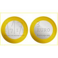 3€ €uros Slovénie 2013 UNC Sortie de Rouleau