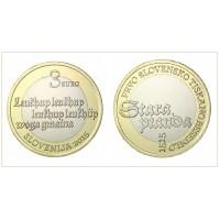 3€ €uros Slovénie 2015 UNC Sortie de Rouleau