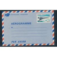 CFA Aerogramme De la Réunion Entiers Postaux numero 1 Neuf - Le Concorde