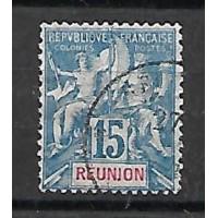 Timbre Reunion Colonie - Numéro 22 - Oblitéré