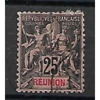 Timbre Reunion Colonie - Numéro 39 - Oblitéré