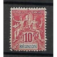 Timbre Reunion Colonie - Numéro 47 - Oblitéré