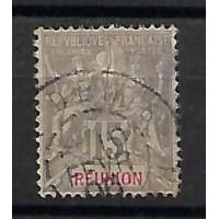 Timbre Réunion Colonie - Numéro 48 - Oblitéré
