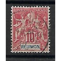 Timbre Réunion Colonies - Numéro 47 - Oblitéré