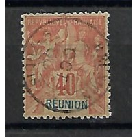 Timbre Réunion Colonies - Numéro 41 - Oblitéré