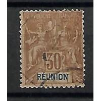 Timbre Réunion Colonies - Numéro 40 - Oblitéré