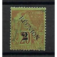 Timbre Réunion Colonies - Numéro 31 a - Oblitéré