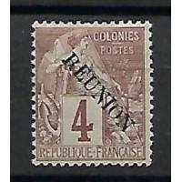 Timbre Réunion Colonies - Numéro 19 - Neuf avec Charnières