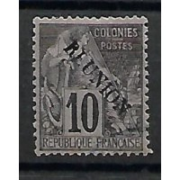 Timbre Réunion Colonies - Numéro 21 - Oblitéré