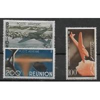 Reunion Colonies - numéro PA 42 à 44 - Neuf sans Charnières