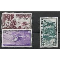 Martinique Colonies - numéro PA 13 à 15 - Neuf sans Charnières