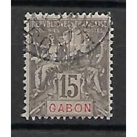 Gabon Colonies - Numéro 21 - Oblitéré