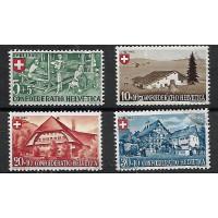 Suisse - Numéro 419 à 422 - Oblitéré