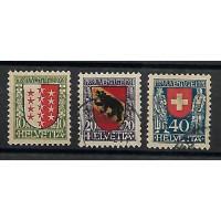 Suisse - Numéro 185 à 187 - Oblitéré
