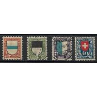 Suisse - Numéro 188 à 191 - Oblitéré