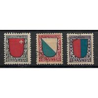 Suisse - Numéro 176 à 178 - Oblitéré