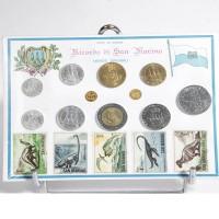 Coffret Saint Marin - 1975 à 1978 - Assortiments de pièces et timbres