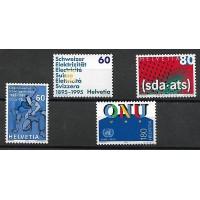 Suisse - Numéro 1468 à 1471 - Neuf sans Charnière
