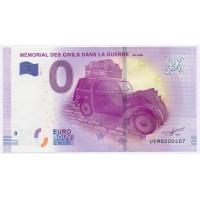 Billet de 0€ Commémoratif - Mémorial des Civils dans la Guerre