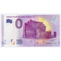 Billet de 0€ Commémoratif - Grand Four Solaire d'Odeillo